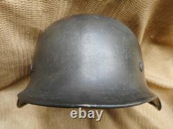 Original Ww2 Armée Allemande / Elite Wss M40 Acier Combat Helmet Aucun Autocollant