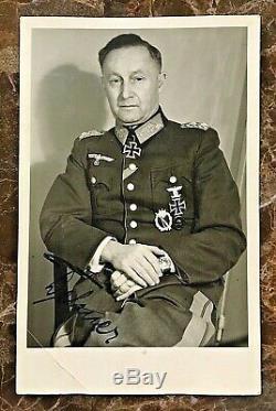 Original- Ww2 Général De L'armée Allemande D'infanterie Ernst Dehner Photo Autographiée