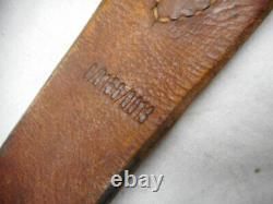 Original Ww2 German Army Elite Wss Leather Y Straps Riemen With Rbnr Number
