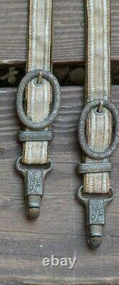 Original Wwii Allemand Heer Army Officier Dagger Hangers Deluxe Raccords Couteau