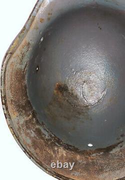 Original Wwii Allemand M40 Camo Army Wehrmacht Heer Steel Helmet Shell