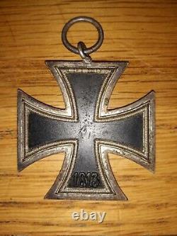 Original Wwii German Army Iron Cross 2nd Class Maker Mkd 100 (w. L) Ww2 Ekii