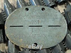 Origine Ww2 Ww II Armée Militaire Dog Tag ID De Jeton Allemand Rare Stalingrad Relic