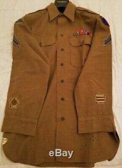 Origine Ww2 (général Pattons) 7ème Armée, De Fabrication Allemande Gi Chemise À Manches Longues /