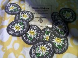 Pack De Badges Allemands Originaux Ww2 Wwii Gebirgsjäger Edelweiss Dans Le Pack Original