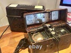 Paire De Téléphones De Terrain De L'armée Allemande Ww2 Bakelite Ff33 Wehrmacht, 1940 & 1942
