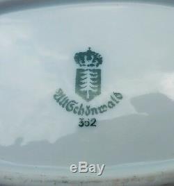 Plaque Wwii Us Army Vtg Alt Schonwald Art Militaire Porcelaine Allemande De Porcelaine Antique