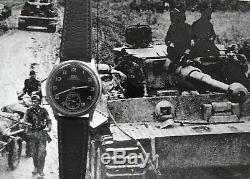 Rare 1940 Ww2 Armée Allemande Militaire Arsa Dh Montre Original Cadran Grand Conde Courses