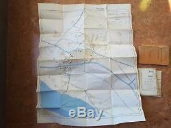 Rare Allemand Ww2 Dak Afrika Korps Carte Plans D'alexandrie 1940 Armée Militaire Berlin