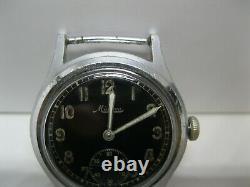 Rare Military Men's Watch Minerva Dh Pour L'armée Allemande Seconde Guerre Mondiale Période