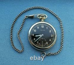 Rare Military Pocket Watch Armée Allemande Helios Dh De La Période Ww2 Swiss Made Années 1940