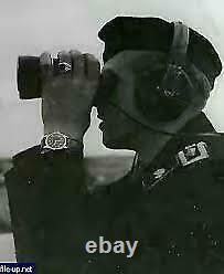 Rare Montre Militaire Minerva Dh Pour L'armée Allemande Ww2 Wehrmacht