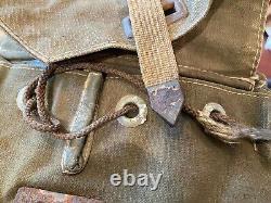 Rare Normandie Usagé Ww2 Allemagne Army Combat Engineers Côté Sac Grange Trouver