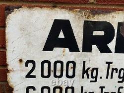 Rare Original Ww2 Army Army Armour Factory Enamel Plaque 1944 Date Grande Taille