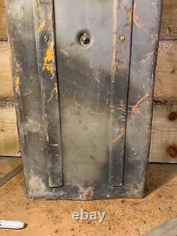 Rare Original Ww2 Panzer Allemand 4 Stug 2 Round Ammo Kwk Box Peinture Originale