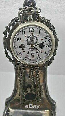 Rare Vintage Militaire Seconde Guerre Mondiale 1942 L'armée Allemande Pocket Watch
