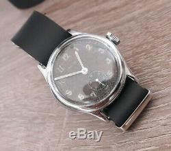 Rare Wristwatch Armée Allemande Helvetia Dh Wehrmacht Ww2