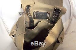 Rare Ww2 Militaire De L'armée Allemande Camouflage Sac À Dos Sac Pochette