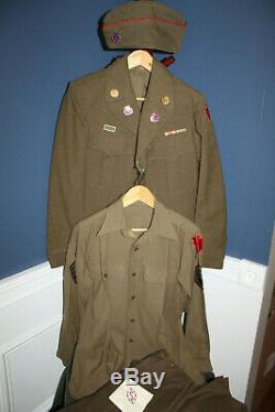 Rare Ww2 Originale U. S. Armée 28 I. D. Allemand Uniformisées Set Withdi De, Jeu Nommé