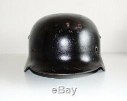 Réémission Civile Tchèque Armée Allemande Originale Taille De La Coquille Du Casque Ww2 M35 Et68 Inv # 637