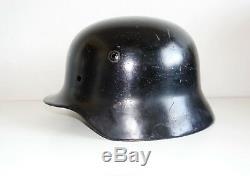Réémission Civile Tchèque Armée Allemande Originale Taille De La Coquille Du Casque Ww2 M35 Ns62 Inv # 633