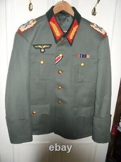 Repro Ww2 Allemand General Veste Robe