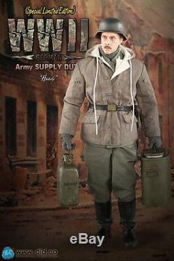 Saviez-échelle 1/6 12 Alimentation Seconde Guerre Mondiale Armée Allemande Hans Duty Version A Figure D80109sa