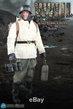 Saviez-échelle 1/6 12 Seconde Guerre Mondiale Armée Allemande Bastian Duty Alimentation Action Figure D80109 Nouveau