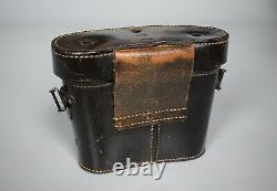 Seconde Guerre Mondiale Allemande D'avant-guerre 6x30 Dienstglas Binoculars Cuir Case Original Ww2 1935