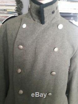 Seconde Guerre Mondiale Allemande Rare Armée Allemande Laine Lourde Pardessus Grand Manteau Ww2 Repro