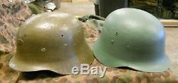 Seconde Guerre Mondiale / Après-guerre Espagnole Armée / German Type De Casque