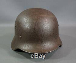 Seconde Guerre Mondiale Armée Allemande Heer Wehrmacht M40 Steel Combat Casque Taille Q62 Linéaire Authent
