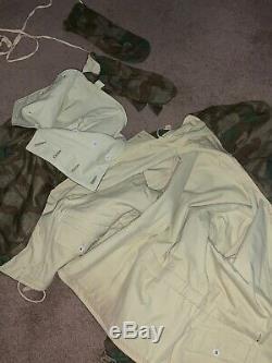 Seconde Guerre Mondiale Armée Splinter Parka Allemande, Parkas Pantalons Et Mitaines D'hiver. Taille III