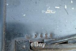 Seconde Guerre Mondiale D'origine Ww2 Vieille Armée Allemande Militaire Bakélite Téléphone Métal