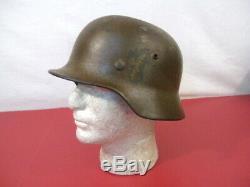 Seconde Guerre Mondiale Ère Armée Allemande M1935 M35 Stahlheime Casque Acier Withliner Bague D'origine