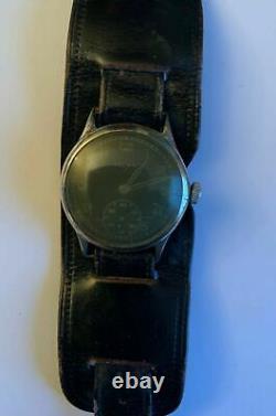 Seconde Guerre Mondiale Helma D-h Service Montre-bracelet Armée Allemande Pour La Wehrmacht Witho