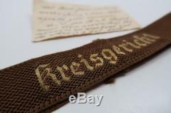 Seconde Guerre Mondiale L'armée Américaine Vétérinaire Soldat Allemand Uniforme Patch Insigne Ruban Trophée Manchette Titre