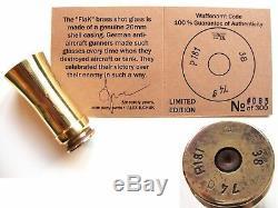 Seconde Guerre Mondiale Lunettes Laiton Flak 2 CM Wehrmacht Armée Allemande Tasse De Tasse D'origine Ancienne Armée Ww2