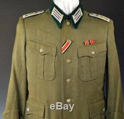 Seconde Guerre Mondiale Officiers De L'armée Médicale Allemande Tunique Avec Des Rubans Originaux Et Boucles Prix