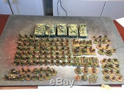 Seconde Guerre Mondiale Ww2 1/72 20 MM Bien Peint Armée Allemande 126 D'infanterie (métal) + 5 Réservoirs