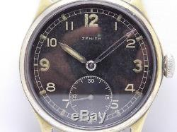 Seconde Guerre Mondiale Ww2 1944 Wristwatch Militaire De L'armée Allemande Zenith Dh
