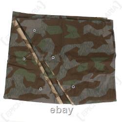 Splinter Zeltbahn Ww2 Repro Allemagne Shelter Basha Armée Camouflage Militaire Nouveau