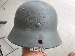 Stahlhelm M35 Wehrmacht 2wk Ww2 Armée Allemande Casque Seconde Guerre Mondiale Elmetto Tedesco