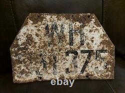 Stalingrad Ww2 Allemand 6ème Armée Véhicule Plaque D'immatriculation Bataille Endommagé 1943. Wwii
