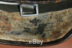 Superbe Ww2 Casque Allemand, M35 Armée Camouflage D'hiver, Ns62, En Date Du 1938