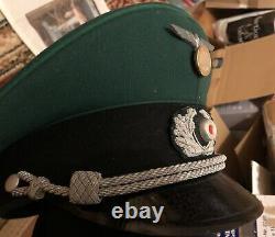 Superior Quality Allemand Ww2 Wehrmacht Officier Pekuro Visor