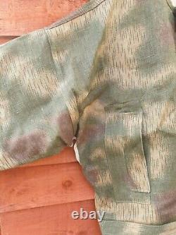 Tan And Water Camo Smock Original Cloth Wh Panzergrenadier Ww2 Allemand
