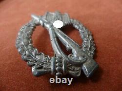 Véritable Insigne De Combat D'assaut D'infanterie D'argent De L'armée Allemande Ww2