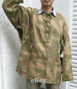 Veste Original Wehrmacht Allemand Camo Tan Et De L'eau Sarrau Armée Heer Luftwaffe