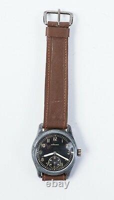 Vintage Swiss Watch Buren Armée Allemande Militaire Ww2 Büren